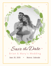 Save the Date Wedding Flyer