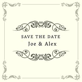 Save the date wedding instagram