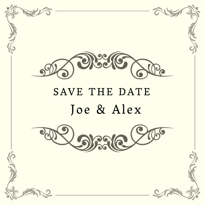 Save the date wedding instagram template