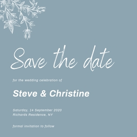 save the date wedding invitation card Square (1:1) template