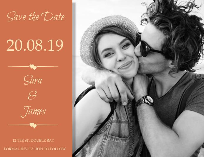 save the date wedding invitation