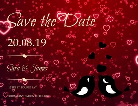 save the date wedding invitation Flyer (US Letter) template