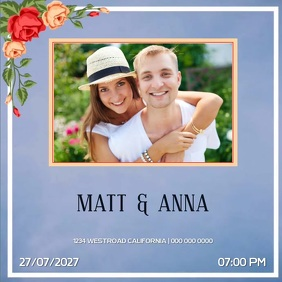 SAVE THE DATE WEDDING SOCIAL MEDIA TEMPLATE
