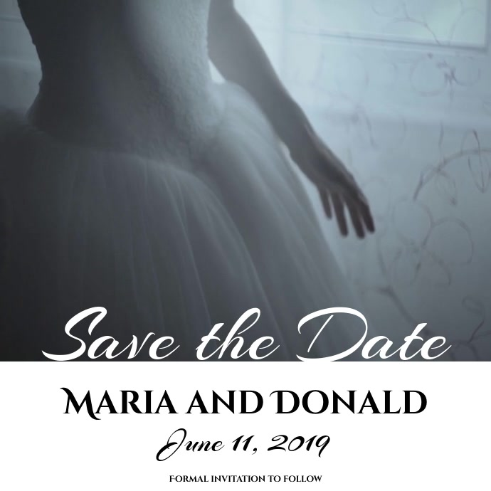 Save the Date Wedding Video