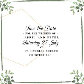 Save the Date Wedding Video Template