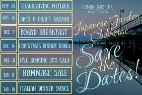 Save The Dates of Upcoming Events