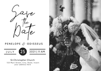 Save the dates wedding invitation postcard te template