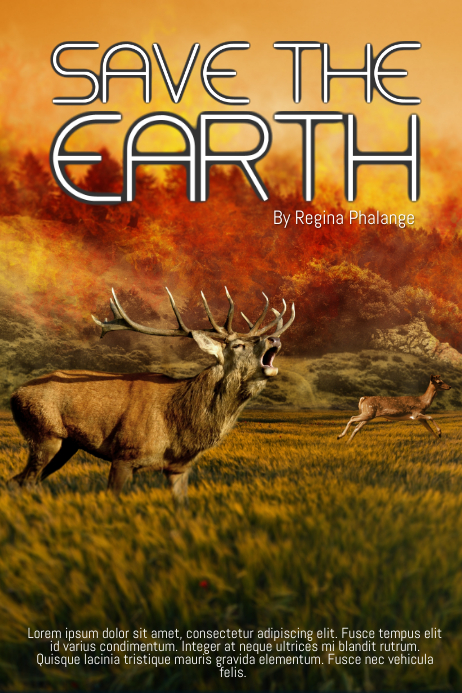 Save the Earth Book Cover Movie Film template