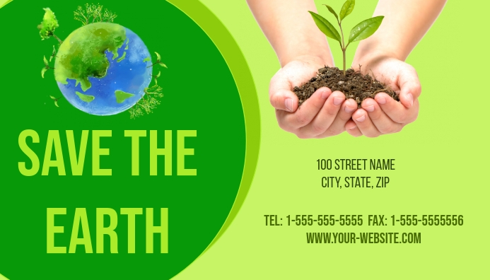 Save the Earth Business Card template