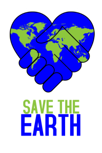 save the earth environment go green poster template