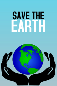 save the earth environment inspirational poste template