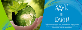 Save The Earth Facebook Cover Photo Template