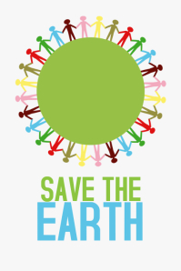 save the earth poster template