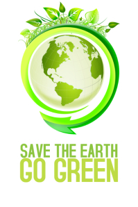 save the earth go freen poster template