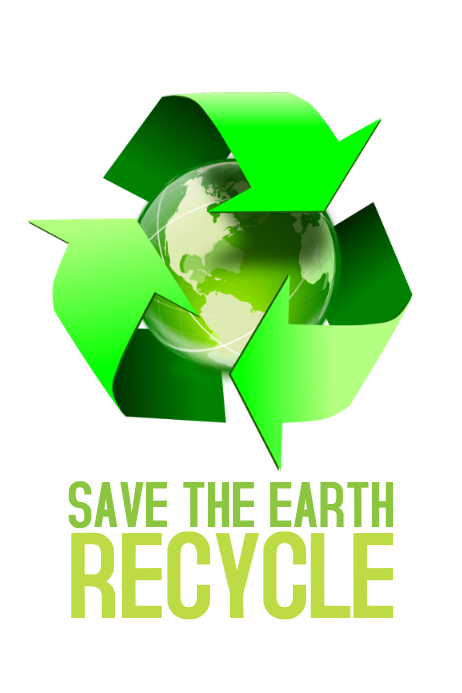 save the earth recycle environment psoter template