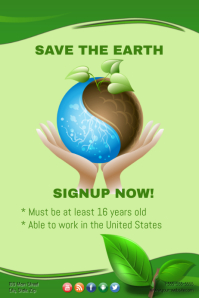 Save the Earth Twmplate
