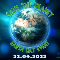 Save the Earth Video Template Square (1:1)
