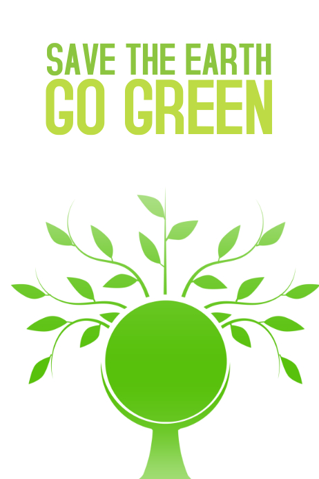 save the heart go green poster template