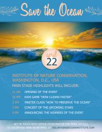 Save the ocean Рекламная листовка (US Letter) template