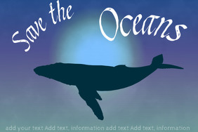 save the oceans - save the blue whale from extinction