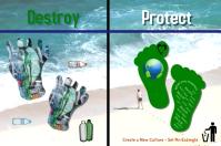 Save the planet/Don't trash/Environment/Keep beach clean