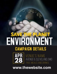 Save the Planet Video Ad Flyer (format US Letter) template