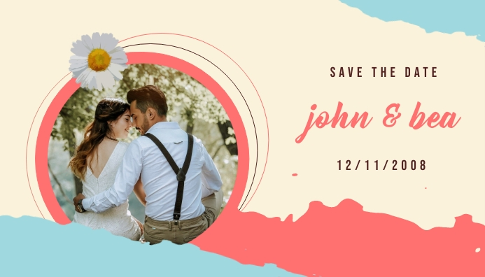 Save To Date May Style Header Blog template