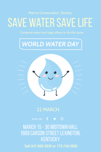 Save Water World Water Day Flyer