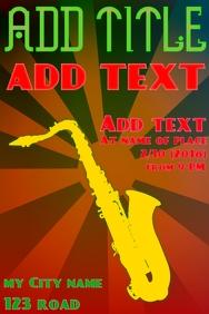 Saxophone music playing instrument