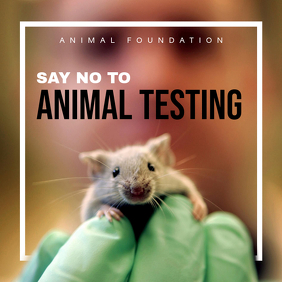 Say No to Animal Testing Instagram Post Template