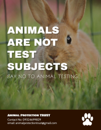 Say No To Animal Testing Poster Template