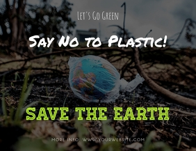 Say No to Plastic Save the Earth Flyer