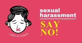 Say No to Sexual Harassment Facebook Post Tem template
