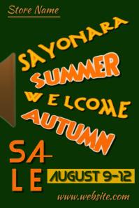 Sayonara Summer Sale Poster
