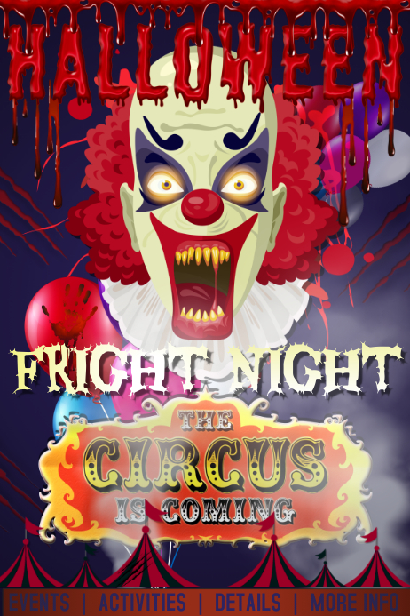 Scary Circus Clown Horror Haunted Halloween Party Costume