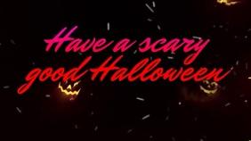 Scary Halloween Pumpkins Music Video Digitale Vertoning (16:9) template