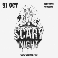 scary night party halloween template Instagram Post