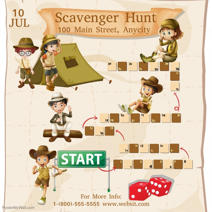 Scavenger Hunt Template | PosterMyWall