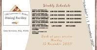 Schedule Portada de evento de Facebook template
