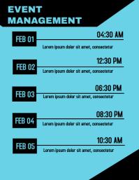 Schedule Flyer template