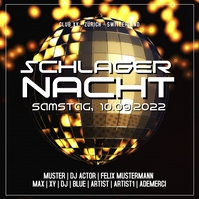Schlager Nacht Party Event Club Disco Ball Сообщение Instagram template
