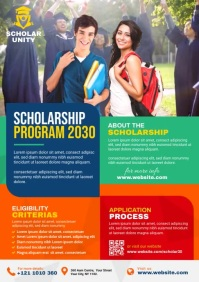 Scholarship Announcement Ad A4 template