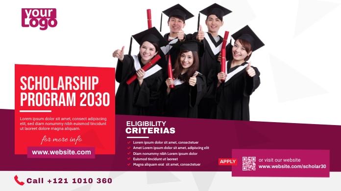Scholarship Announcement Twitter-opslag template