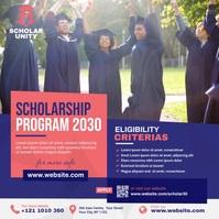 Scholarship Publicación de Instagram template