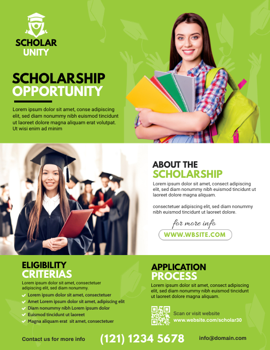 Scholarship Flyer Template | PosterMyWall
