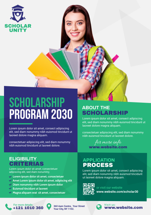 Scholarship Flyer Template