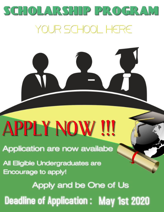 SCHOLARSHIP POSTER Template | PosterMyWall