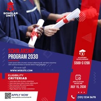 Scholarship Program Ad โพสต์บน Instagram template