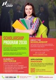 Scholarship Program A4 template
