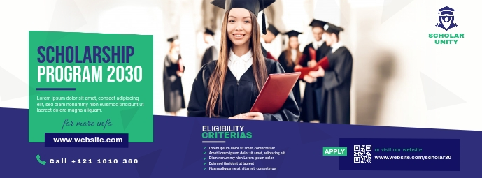Scholarship Program Portada de Facebook template